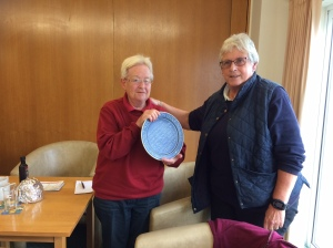 Pam receives the Lansdown Trophy