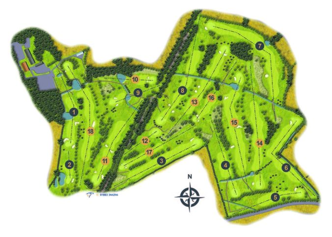 Ullesthorpe Golf Club Course Map